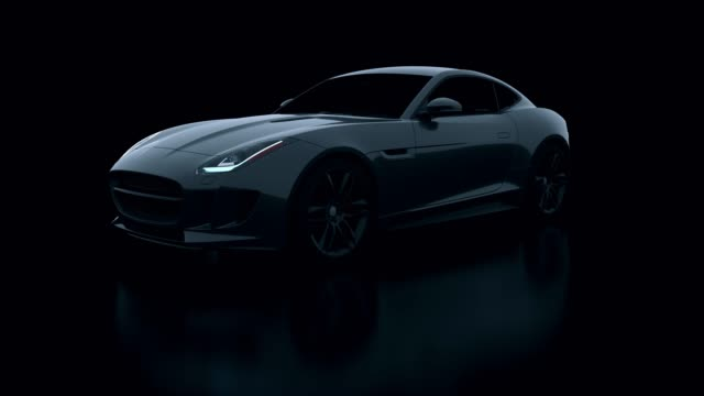 Concept 3d car in studio shot Concept 3d car in studio shot sports car stock videos & royalty-free footage