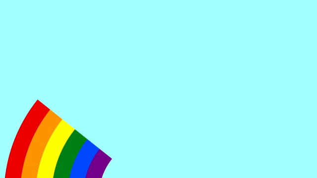 Concept LGBT minimal motion design animation Rainbow Gay Flag Animation on color Background. Concept LGBT Community. Abstract graphics in trendy colors and style. Seamless looping animation. rainbow stock videos & royalty-free footage