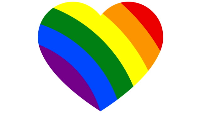 Concept LGBT minimal motion design animation Rainbow Gay Flag Heart Animation on color Background. Concept LGBT Community. Abstract graphics in trendy colors and style. Seamless looping animation. bisexuality stock videos & royalty-free footage