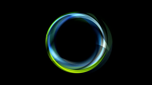 Concept neon iridescent corporate ring video animation video