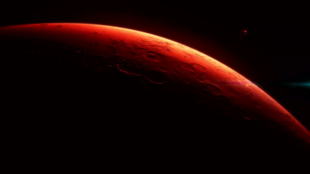 火星任務的概念 - 水平面角度 個影片檔及 b 捲影像