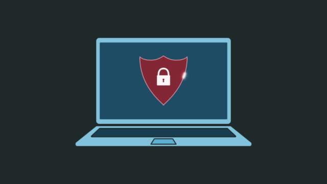 vídeos y material grabado en eventos de stock de concepto de seguridad informática - shield