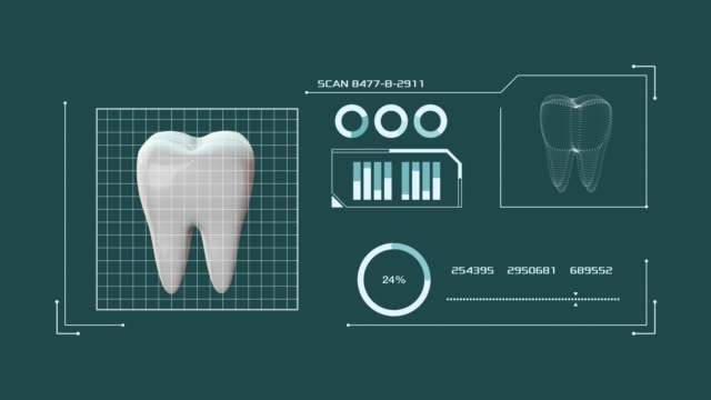 concept of dentistry and technology - denti video stock e b–roll