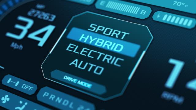 konzept des hybridautos - elektromobilität stock-videos und b-roll-filmmaterial