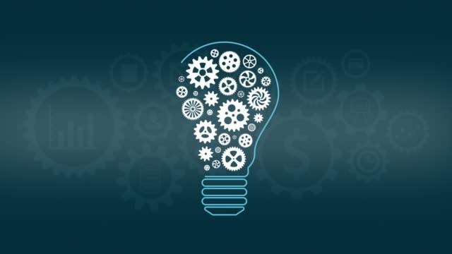 vidéos et rushes de concept d'idée - rouage