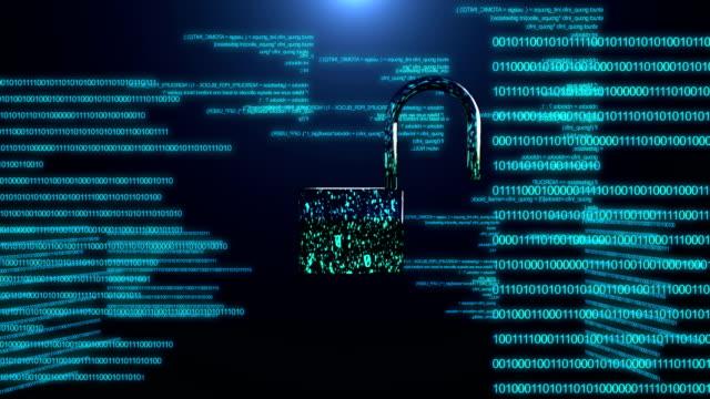 인터넷 보안의 개념입니다. - 보호 스톡 비디오 및 b-롤 화면