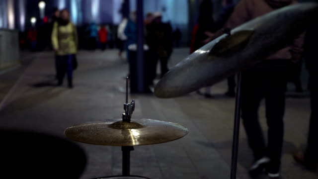 Concept of Lifestyle - Rhythm of City Life. Street Musician Plays the Drums video