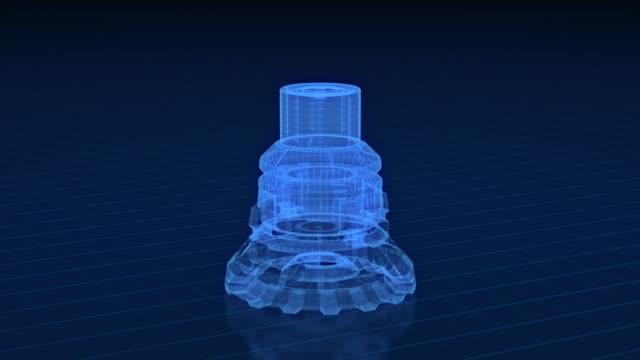 機械プロジェクトの概念 - 機械部品点の映像素材/bロール