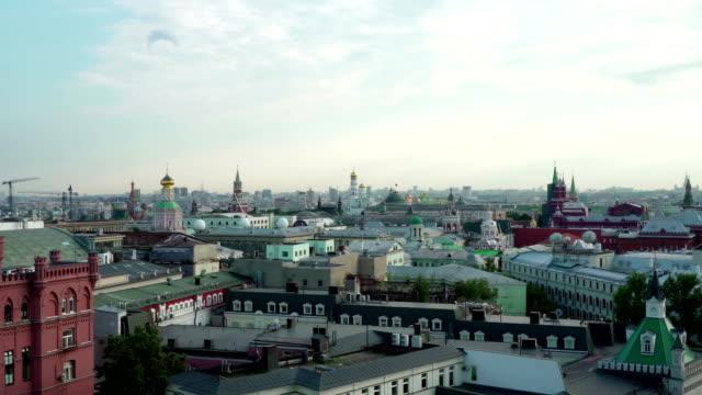 begreppet ryska kreml panorama flygfoto - röda torget bildbanksvideor och videomaterial från bakom kulisserna
