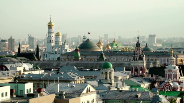 begreppet ryska kreml panorama flygfoto - kreml bildbanksvideor och videomaterial från bakom kulisserna