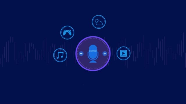 concept of smart speaker technology - assistente virtuale video stock e b–roll