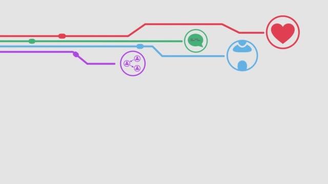 concetto di social media - icona dei social network video stock e b–roll