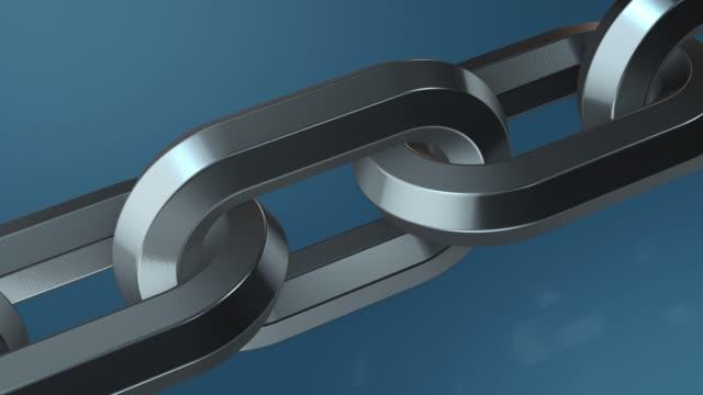 チームワークの概念 - 鎖の輪点の映像素材/bロール