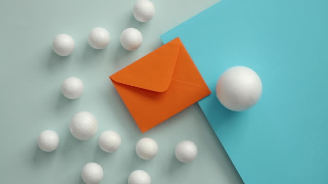 Conceptual image of geometric blocks and envelope