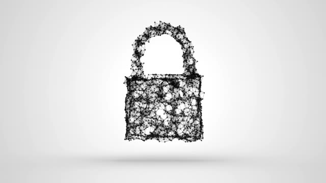 Conceptual video of padlock cyber security Digitally generated conceptual video of padlock cyber security padlock stock videos & royalty-free footage