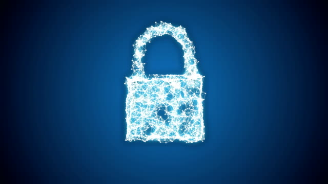 Conceptual video of padlock cyber security video