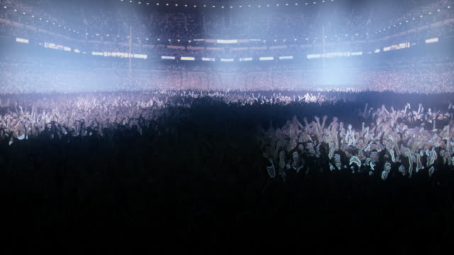 Concert Area and Stadium ( 3d rendered ) video