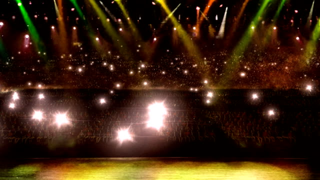 concert camera yellow spotlight and flash light video