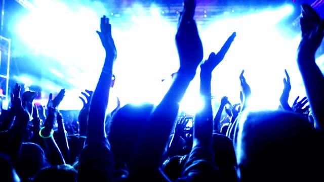 Concert crowd applauding. video