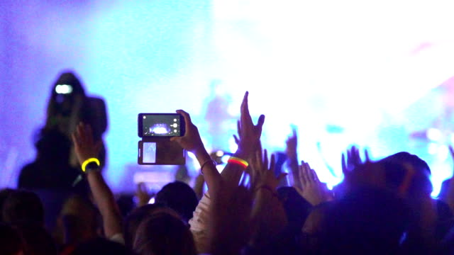 Concert crowd in slow motion. video