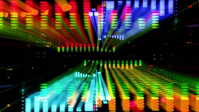 concert flare spectrum - pop art video stock e b–roll