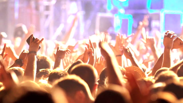konzert party applaus. - festival besucher stock-videos und b-roll-filmmaterial