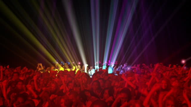 Concert People giant crowd looping animation video