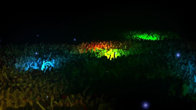 vídeos de stock, filmes e b-roll de multidão de concerto pessoas gigante - estilo de vida dos abastados