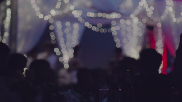 concert show in the night. - happy hour video stock e b–roll