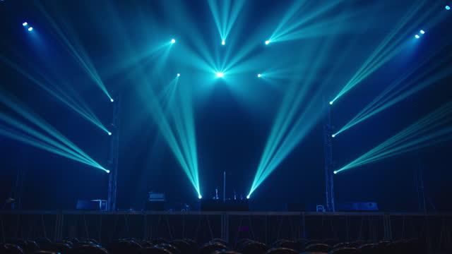 Concert stage light effect.