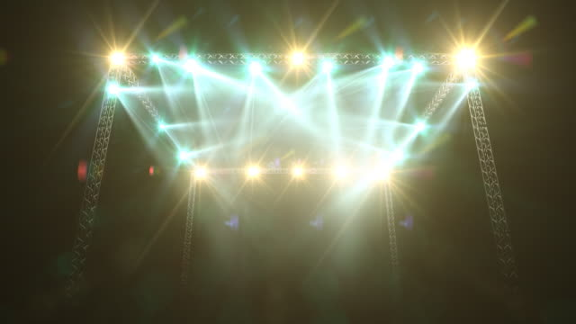 Concert Stage Lights and Flare video