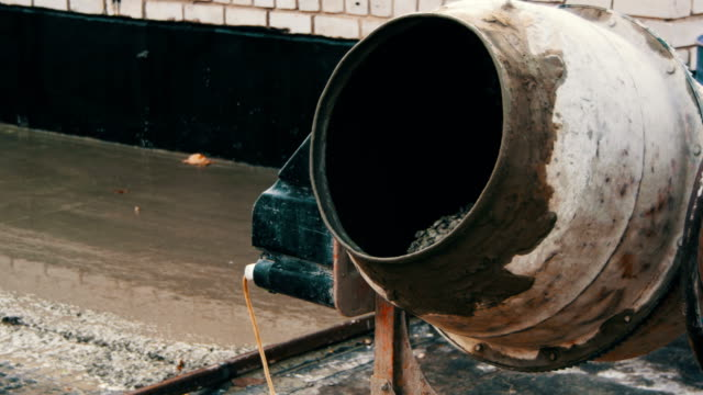 Concrete Mixer Work on Construction Sites and Knead Concrete video