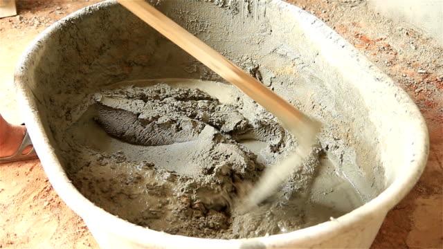 concrete mixing video