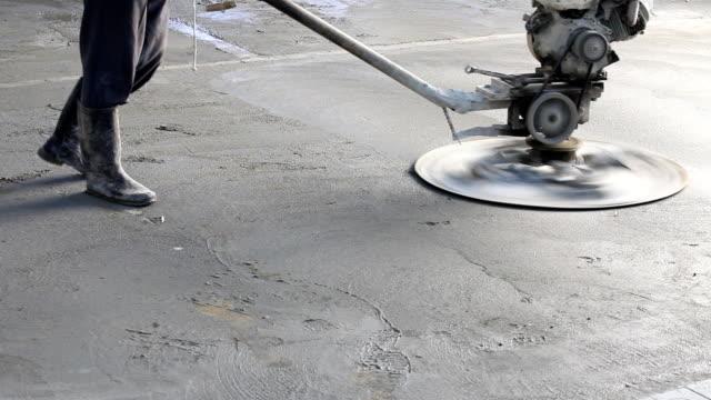 Concrete polishing machine video