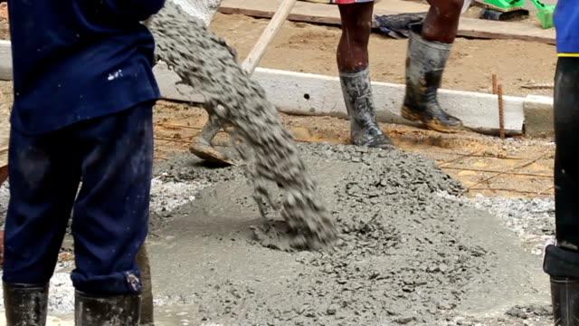 Concrete pouring. video