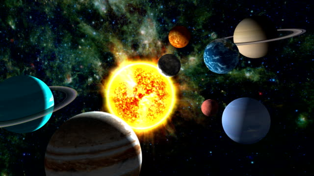 Condensed Solar System video