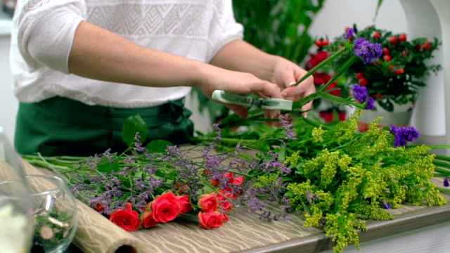 Conditioning Flowers for Arrangement video