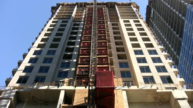 Condo construction. Elevator. video