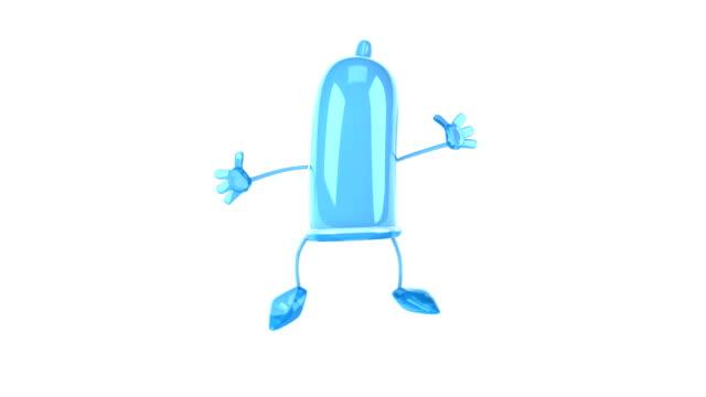 Condom jumping video
