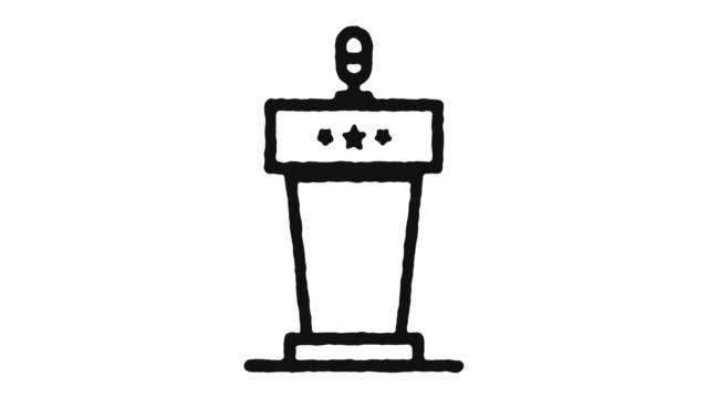 animazione icona conferenza footage & alpha channel - foro video stock e b–roll