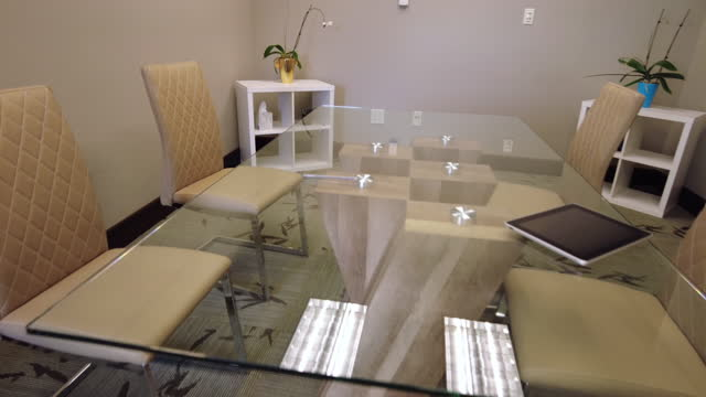Conference Room Board Meeting Glass Top Table