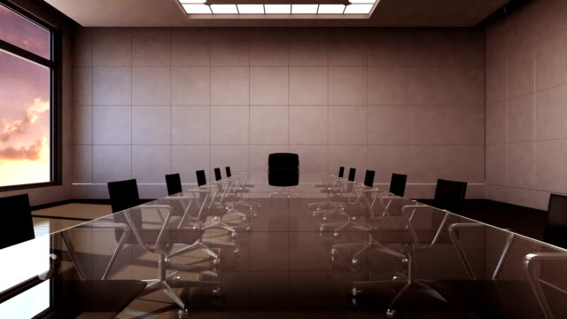 Conference room, forward moving, front chairman.sunset time. Conference room, brainstorming, forward moving camera, front chairman. board room stock videos & royalty-free footage