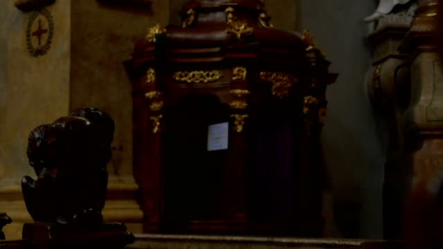 Confessional in Baroque Church video