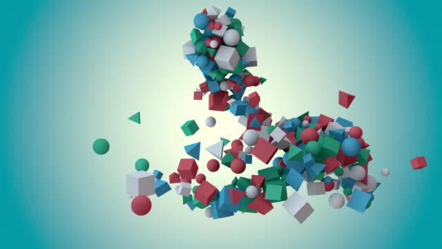 Confetti 3D with Alpha video
