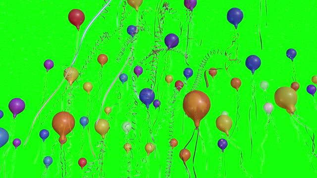 Confeti y globos y Banderolas - vídeo