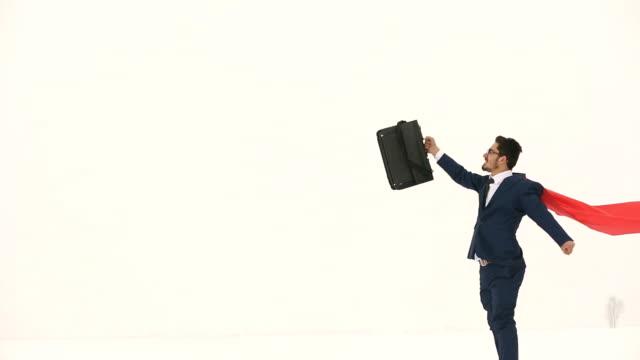 Confetti and businessman video