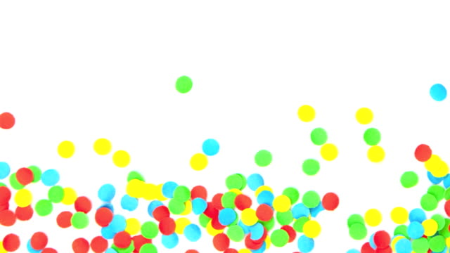 Confetti background panning video