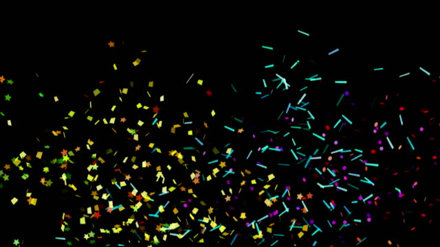 4K Confetti Backgrounds Luma matte video