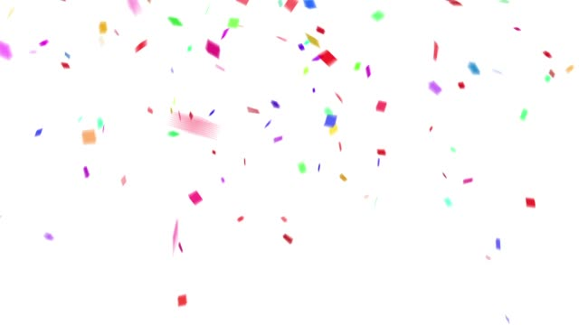 Confetti colorful background white
