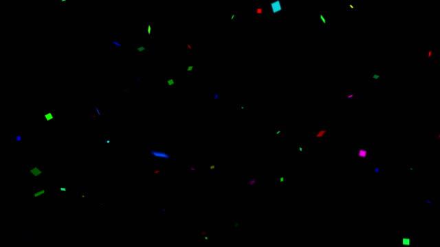 vídeos y material grabado en eventos de stock de confeti colorido fondo con canal mate alfa - transparente